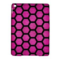 Hexagon2 Black Marble & Pink Brushed Metal Ipad Air 2 Hardshell Cases by trendistuff