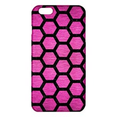 Hexagon2 Black Marble & Pink Brushed Metal Iphone 6 Plus/6s Plus Tpu Case by trendistuff