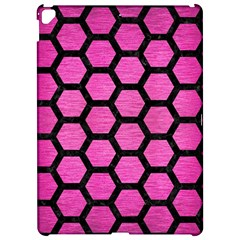 Hexagon2 Black Marble & Pink Brushed Metal Apple Ipad Pro 12 9   Hardshell Case by trendistuff