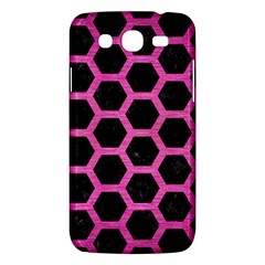 Hexagon2 Black Marble & Pink Brushed Metal (r) Samsung Galaxy Mega 5 8 I9152 Hardshell Case  by trendistuff