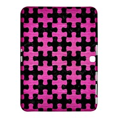Puzzle1 Black Marble & Pink Brushed Metal Samsung Galaxy Tab 4 (10 1 ) Hardshell Case  by trendistuff