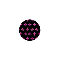 Royal1 Black Marble & Pink Brushed Metal 1  Mini Buttons by trendistuff
