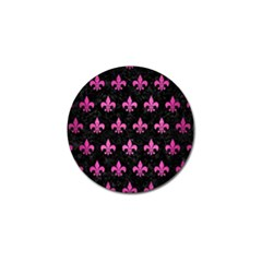 Royal1 Black Marble & Pink Brushed Metal Golf Ball Marker (10 Pack) by trendistuff