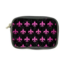 Royal1 Black Marble & Pink Brushed Metal Coin Purse by trendistuff