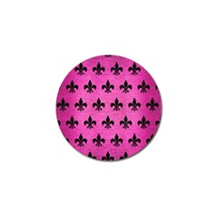 Royal1 Black Marble & Pink Brushed Metal (r) Golf Ball Marker (10 Pack) by trendistuff