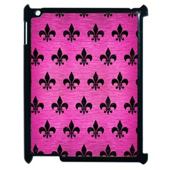 Royal1 Black Marble & Pink Brushed Metal (r) Apple Ipad 2 Case (black) by trendistuff