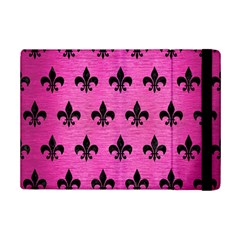 Royal1 Black Marble & Pink Brushed Metal (r) Ipad Mini 2 Flip Cases by trendistuff