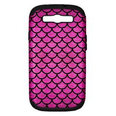 Scales1 Black Marble & Pink Brushed Metal Samsung Galaxy S Iii Hardshell Case (pc+silicone) by trendistuff
