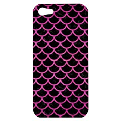 Scales1 Black Marble & Pink Brushed Metal (r) Apple Iphone 5 Hardshell Case by trendistuff