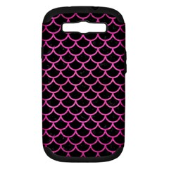 Scales1 Black Marble & Pink Brushed Metal (r) Samsung Galaxy S Iii Hardshell Case (pc+silicone) by trendistuff