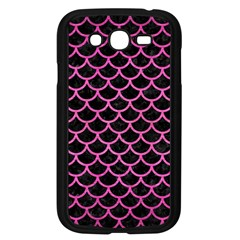Scales1 Black Marble & Pink Brushed Metal (r) Samsung Galaxy Grand Duos I9082 Case (black) by trendistuff