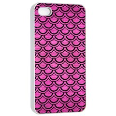 Scales2 Black Marble & Pink Brushed Metal Apple Iphone 4/4s Seamless Case (white) by trendistuff
