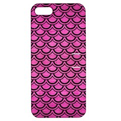 Scales2 Black Marble & Pink Brushed Metal Apple Iphone 5 Hardshell Case With Stand by trendistuff