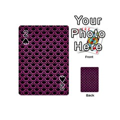 Scales2 Black Marble & Pink Brushed Metal (r) Playing Cards 54 (mini)  by trendistuff
