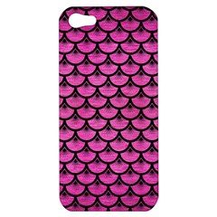 Scales3 Black Marble & Pink Brushed Metal Apple Iphone 5 Hardshell Case by trendistuff
