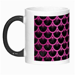 Scales3 Black Marble & Pink Brushed Metal (r) Morph Mugs by trendistuff