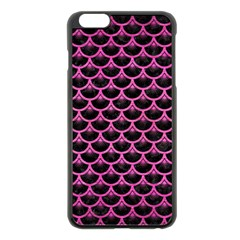 Scales3 Black Marble & Pink Brushed Metal (r) Apple Iphone 6 Plus/6s Plus Black Enamel Case by trendistuff