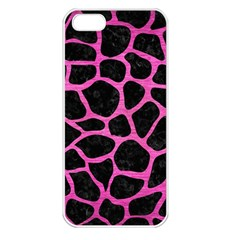 Skin1 Black Marble & Pink Brushed Metal Apple Iphone 5 Seamless Case (white) by trendistuff