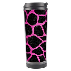 Skin1 Black Marble & Pink Brushed Metal Travel Tumbler by trendistuff