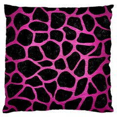 Skin1 Black Marble & Pink Brushed Metal Standard Flano Cushion Case (one Side) by trendistuff