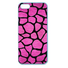 Skin1 Black Marble & Pink Brushed Metal (r) Apple Seamless Iphone 5 Case (color) by trendistuff