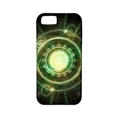 Green Chaos Clock, Steampunk Alchemy Fractal Mandala Apple Iphone 5 Classic Hardshell Case (pc+silicone) by jayaprime