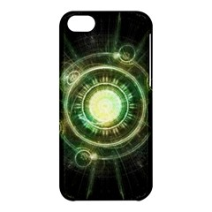 Green Chaos Clock, Steampunk Alchemy Fractal Mandala Apple Iphone 5c Hardshell Case by jayaprime