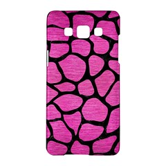 Skin1 Black Marble & Pink Brushed Metal (r) Samsung Galaxy A5 Hardshell Case  by trendistuff