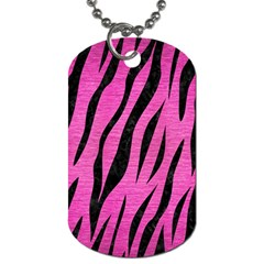 Skin3 Black Marble & Pink Brushed Metal Dog Tag (two Sides) by trendistuff