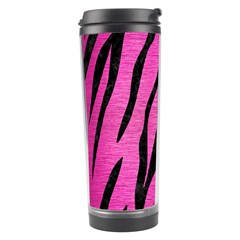 Skin3 Black Marble & Pink Brushed Metal Travel Tumbler by trendistuff