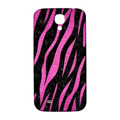 Skin3 Black Marble & Pink Brushed Metal (r) Samsung Galaxy S4 I9500/i9505  Hardshell Back Case by trendistuff