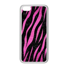 Skin3 Black Marble & Pink Brushed Metal (r) Apple Iphone 5c Seamless Case (white) by trendistuff