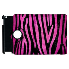 Skin4 Black Marble & Pink Brushed Metal Apple Ipad 2 Flip 360 Case by trendistuff