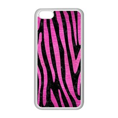 Skin4 Black Marble & Pink Brushed Metal Apple Iphone 5c Seamless Case (white) by trendistuff