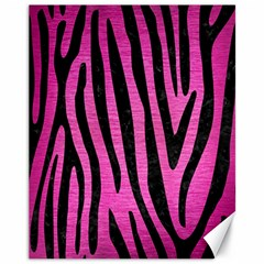 Skin4 Black Marble & Pink Brushed Metal (r) Canvas 11  X 14   by trendistuff