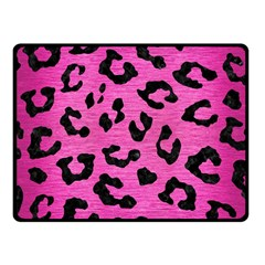 Skin5 Black Marble & Pink Brushed Metal (r) Fleece Blanket (small) by trendistuff