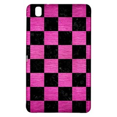 Square1 Black Marble & Pink Brushed Metal Samsung Galaxy Tab Pro 8 4 Hardshell Case by trendistuff
