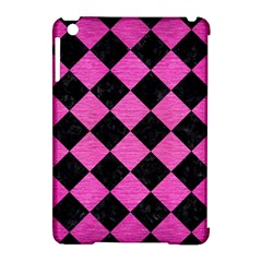 Square2 Black Marble & Pink Brushed Metal Apple Ipad Mini Hardshell Case (compatible With Smart Cover) by trendistuff