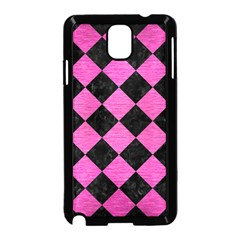 Square2 Black Marble & Pink Brushed Metal Samsung Galaxy Note 3 Neo Hardshell Case (black) by trendistuff