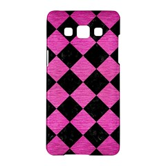 Square2 Black Marble & Pink Brushed Metal Samsung Galaxy A5 Hardshell Case  by trendistuff