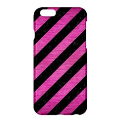 Stripes3 Black Marble & Pink Brushed Metal (r) Apple Iphone 6 Plus/6s Plus Hardshell Case by trendistuff