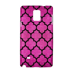 Tile1 Black Marble & Pink Brushed Metal Samsung Galaxy Note 4 Hardshell Case by trendistuff