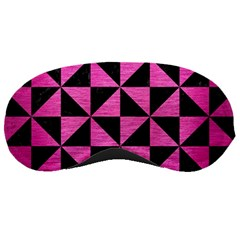 Triangle1 Black Marble & Pink Brushed Metal Sleeping Masks by trendistuff