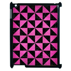 Triangle1 Black Marble & Pink Brushed Metal Apple Ipad 2 Case (black) by trendistuff