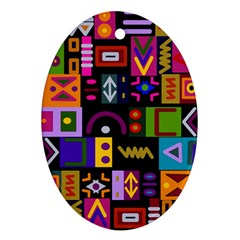 Abstract A Colorful Modern Illustration Ornament (oval) by Celenk