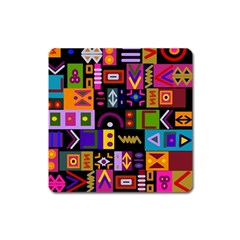 Abstract A Colorful Modern Illustration Square Magnet