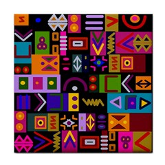 Abstract A Colorful Modern Illustration Face Towel by Celenk