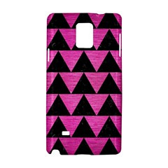 Triangle2 Black Marble & Pink Brushed Metal Samsung Galaxy Note 4 Hardshell Case by trendistuff