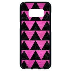 Triangle2 Black Marble & Pink Brushed Metal Samsung Galaxy S8 Black Seamless Case
