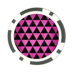 Triangle3 Black Marble & Pink Brushed Metal Poker Chip Card Guard (10 Pack) by trendistuff